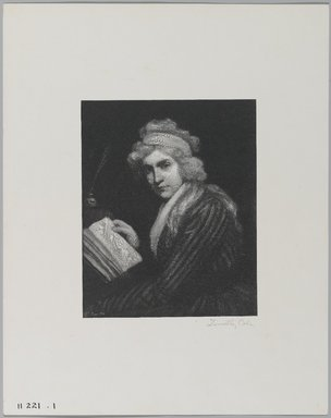 Timothy Cole (American, 1852-1931). <em>Mary Wollstonecraft</em>, June 1898. Wood engraving, Sheet: 12 x 9 9/16 in. (30.5 x 24.3 cm). Brooklyn Museum, Gift of Mrs. Solon H. Borglum, 09.946.1 (Photo: Brooklyn Museum, 09.946.1_PS1.jpg)