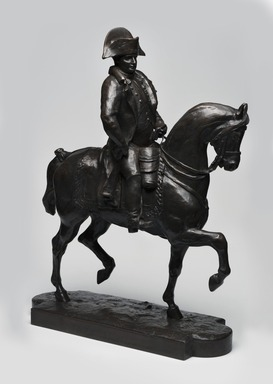 Antoine-Louis Barye (French, 1795-1875). <em>Napoleon on Horseback</em>. Bronze, 18 x 13 3/4 x 5 1/4 in. (45.7 x 34.9 x 13.3 cm). Brooklyn Museum, Purchased by Special Subscription, 10.199. Creative Commons-BY (Photo: Brooklyn Museum, 10.199_PS11.jpg)