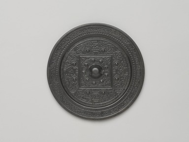 <em>TLV-Type Mirror</em>, 25-220. Bronze, 1/2 x 5 1/8 in. (1.3 x 13 cm). Brooklyn Museum, Museum Expedition 1909, Purchased with funds given by Thomas T. Barr, E. LeGrand Beers, Carll H. de Silver, Herman B. Stutzer, Colonel Robert B. Woodward and Museum Collection Fund, 10.58. Creative Commons-BY (Photo: , 10.58_PS9.jpg)