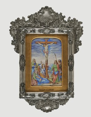 Attributed to Giulio Clovio (Italian, 1498-1578). <em>Crucifixion</em>, ca. 1572. Tempera on parchment, 9 1/8 x 5 5/8 in. (23.2 x 14.3 cm). Brooklyn Museum, Gift of A. Augustus Healy, 11.499 (Photo: Brooklyn Museum, 11.499_PS2.jpg)