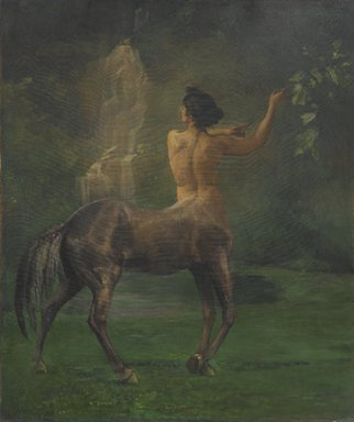 John La Farge (American, 1835-1910). <em>Centauress</em>, 1887. Oil on canvas, 41 15/16 x 35 1/4 in. (106.6 x 89.5 cm). Brooklyn Museum, Augustus Graham School of Design Fund, 11.511 (Photo: Brooklyn Museum, 11.511_PS1.jpg)