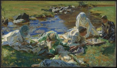 John Singer Sargent (American, born Italy, 1856-1925). <em>Dolce Far Niente</em>, ca. 1907. Oil on canvas, 16 1/4 x 28 1/4 in. (41.3 x 71.7 cm). Brooklyn Museum, Bequest of A. Augustus Healy, 11.518 (Photo: Brooklyn Museum, 11.518_PS6.jpg)