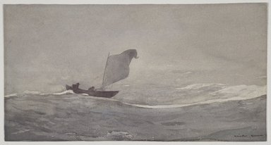 Winslow Homer (American, 1836-1910). <em>Blown Away</em>, ca. 1888. Watercolor and graphite on paper, 10 1/8 x 19 1/16 in. (25.7 x 48.4 cm). Brooklyn Museum, Museum Collection Fund and Special Subscription, 11.543 (Photo: Brooklyn Museum, 11.543_SL3.jpg)