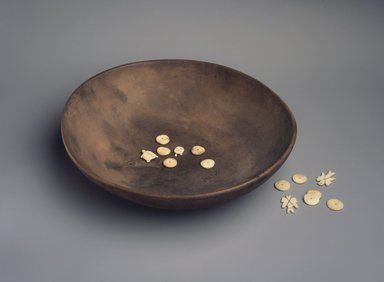 Osage. <em>Bowl, from a Set of 9 Dice and Bowl</em>, late 19th-early 20th century. Wood, Bowl:  4 5/16 x 11 7/16 x 11 7/16 in. (11 x 29 x 29 cm). Brooklyn Museum, Museum Expedition 1911, Museum Collection Fund, 11.694.8974.1. Creative Commons-BY (Photo: , 11.694.8974.1-.10.jpg)