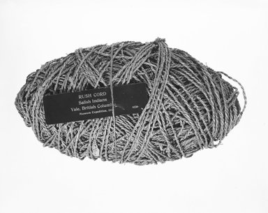 Coast Salish. <em>Ball of Cord</em>. Rush fiber, 12 x 6 in. (28.0 x 19.0 x 15.0 cm). Brooklyn Museum, Museum Expedition 1911, Museum Collection Fund, 11.694.9229. Creative Commons-BY (Photo: Brooklyn Museum, 11.694.9229_bw_SL5.jpg)