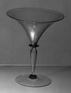 <em>Glass</em>, 19th century. Glass, height: 5 5/8 in. Brooklyn Museum, Purchased by Special Subscription, 11.696.17. Creative Commons-BY (Photo: Brooklyn Museum, 11.696.17_acetate_bw.jpg)