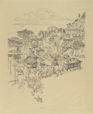 Joseph Pennell (American, 1860-1926). <em>Official Ancon.  Administration Buildings</em>, 1912. Lithograph, composition: 20 11/16 x 16 7/8 in. (52.5 x 42.8 cm). Brooklyn Museum, Gift of William A. Putnam, 12.100 (Photo: Brooklyn Museum, 12.100_PS4.jpg)