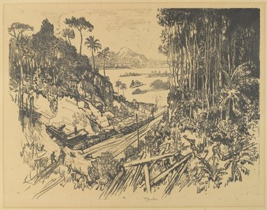 Joseph Pennell (American, 1860-1926). <em>The Jungle</em>, 1912. Lithograph, Composition: 16 5/8 x 22 1/16 in. (42.2 x 56 cm). Brooklyn Museum, Gift of William A. Putnam, 12.105 (Photo: Brooklyn Museum, 12.105_PS4.jpg)