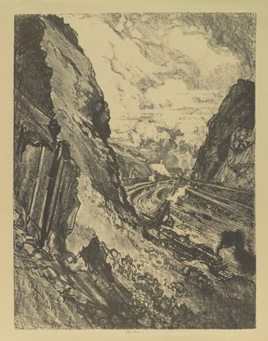 Joseph Pennell (American, 1860-1926). <em>The Cut Toward Culebra</em>, 1912. Lithograph, composition: 21 7/8 x 16 5/8 in. (55.5 x 42.2 cm). Brooklyn Museum, Gift of William A. Putnam, 12.111 (Photo: Brooklyn Museum, 12.111_PS4.jpg)