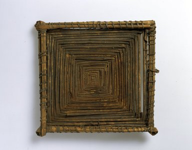 Ainu. <em>Square Tray</em>. Straw, 9 15/16 x 10 7/16 x 1 3/16 in. (25.3 x 26.5 x 3 cm). Brooklyn Museum, Gift of Herman Stutzer, 12.127. Creative Commons-BY (Photo: North American Ainu Documentation Project, Yoshiburo Kotani, 1990-92, 12.127_Ainu_project.jpg)
