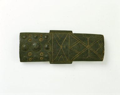 Ainu. <em>Carved Imitation Quiver or Sword Sheath</em>. Wood, 11/16 x 3 7/16 x 8 11/16 in. (1.8 x 8.7 x 22 cm). Brooklyn Museum, Gift of Herman Stutzer, 12.400. Creative Commons-BY (Photo: North American Ainu Documentation Project, Yoshiburo Kotani, 1990-92, 12.400_Ainu_project.jpg)