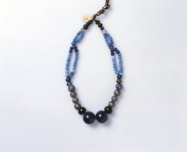 Ainu. <em>Woman's Bead Necklace</em>. Beads, 1 3/16 x 21 1/4 in. (3 x 54 cm). Brooklyn Museum, Gift of Herman Stutzer, 12.449. Creative Commons-BY (Photo: North American Ainu Documentation Project, Yoshiburo Kotani, 1990-92, 12.449_Ainu_project.jpg)