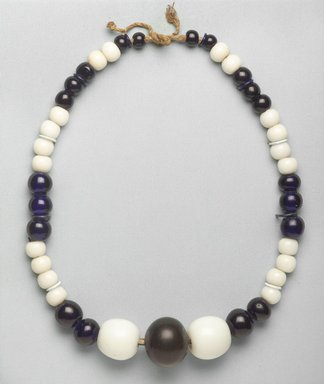 Ainu. <em>Necklace</em>. Porcelain beads, 1 3/4 x 34 5/8 in. (4.5 x 88 cm). Brooklyn Museum, Gift of Herman Stutzer, 12.450. Creative Commons-BY (Photo: Brooklyn Museum, 12.450_PS9.jpg)
