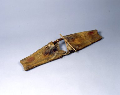 Ainu. <em>Salmon Skins</em>. Skin, 1 3/16 x 8 7/16 x 30 3/16 in. (3 x 21.4 x 76.7 cm). Brooklyn Museum, Gift of Herman Stutzer, 12.495. Creative Commons-BY (Photo: North American Ainu Documentation Project, Yoshiburo Kotani, 1990-92, 12.495_Ainu_project.jpg)