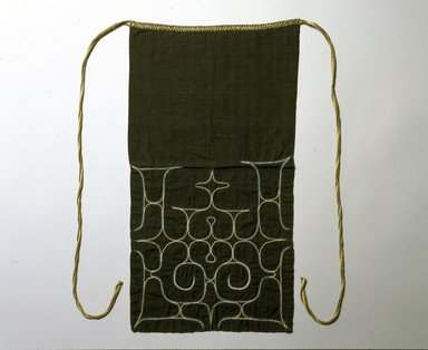 Ainu. <em>Apron</em>. Cotton, 23 3/4 x 12 9/16 in. (60.3 x 31.9 cm). Brooklyn Museum, Gift of Herman Stutzer, 12.546. Creative Commons-BY (Photo: North American Ainu Documentation Project, Yoshiburo Kotani, 1990-92, 12.546_Ainu_project.jpg)