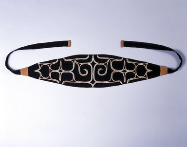 Ainu. <em>Woman's Head Band</em>. Cotton, misc. cotton trade cloth, 5 1/2 x 73 1/4 in. (13.9 x 186 cm). Brooklyn Museum, Gift of Herman Stutzer, 12.550. Creative Commons-BY (Photo: North American Ainu Documentation Project, Yoshiburo Kotani, 1990-92, 12.550_Ainu_project.jpg)