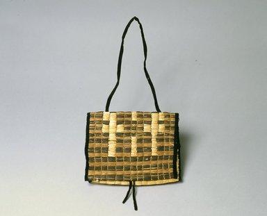 Ainu. <em>Mat Bag</em>. Cotton, 19 5/16 x 11 in. (49 x 28 cm). Brooklyn Museum, Gift of Herman Stutzer, 12.551. Creative Commons-BY (Photo: North American Ainu Documentation Project, Yoshiburo Kotani, 1990-92, 12.551_Ainu_project.jpg)