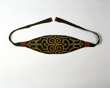 Ainu. <em>Man's Head Band</em>. Cotton, wool, 6 1/8 x 68 5/16 in. (15.6 x 173.5 cm). Brooklyn Museum, Gift of Herman Stutzer, 12.562a. Creative Commons-BY (Photo: North American Ainu Documentation Project, Yoshiburo Kotani, 1990-92, 12.562a_Ainu_project.jpg)