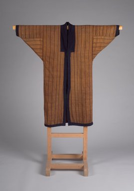 Ainu. <em>Woman's Robe</em>, 19th century. Cotton and elm bark fiber, 48 1/16 x 46 7/16 in. (122 x 118 cm). Brooklyn Museum, Gift of Herman Stutzer, 12.565. Creative Commons-BY (Photo: Brooklyn Museum, 12.565_front.jpg)