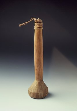 Ainu. <em>Fish Roe Masher with Carved Handle</em>. Wood, 1 7/8 x 6 3/4 in. (4.7 x 17.2 cm). Brooklyn Museum, Gift of Herman Stutzer, 12.588. Creative Commons-BY (Photo: Brooklyn Museum, 12.588.jpg)