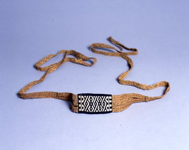 Ainu. <em>Flat Carrying Strap</em>. Rope, 2 3/4 x 119 11/16 in. (7 x 304 cm). Brooklyn Museum, Gift of Herman Stutzer, 12.621. Creative Commons-BY (Photo: North American Ainu Documentation Project, Yoshiburo Kotani, 1990-92, 12.621_Ainu_project.jpg)