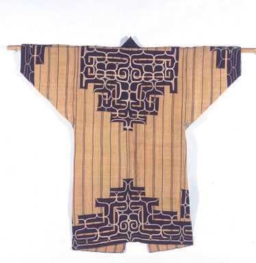 Ainu. <em>Man's Robe</em>, late 19th-early 20th century. Elm bark, cotton, silk, 51 1/8 x 52 in. (129.9 x 132.1 cm). Brooklyn Museum, Gift of Herman Stutzer, 12.656. Creative Commons-BY (Photo: Brooklyn Museum, 12.656_SL4.jpg)