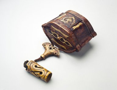 Ainu. <em>Tobacco Box and Pipe Case</em>. Wood, 4 7/16 x 18 11/16 in. (11.2 x 47.5 cm). Brooklyn Museum, Gift of Herman Stutzer, 12.661. Creative Commons-BY (Photo: Brooklyn Museum, 12.661.jpg)
