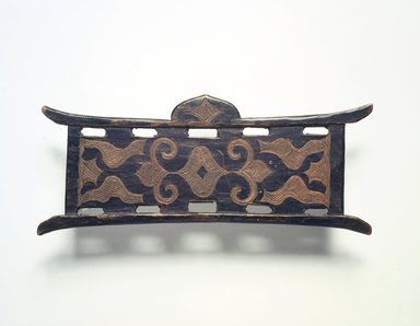 Ainu. <em>Thread Winder or Shuttle stick</em>, late 19th-early 20th century. Wood, 2 9/16 x 6 3/8 in. (6.5 x 16.3 cm). Brooklyn Museum, Gift of Herman Stutzer, 12.733. Creative Commons-BY (Photo: Brooklyn Museum, 12.733.jpg)