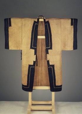Ainu. <em>Man's Robe</em>, 19th century. Elm bark cloth, 53 9/16 x 52 3/4 in. (136 x 134 cm). Brooklyn Museum, Gift of Herman Stutzer, 12.750. Creative Commons-BY (Photo: Brooklyn Museum, 12.750_front.jpg)