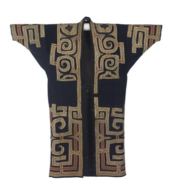 Ainu. <em>Man's Robe</em>, 19th century. Cotton and silk, 55 1/8 x 51 9/16 in. (140 x 131 cm). Brooklyn Museum, Brooklyn Museum Collection, 12.751. Creative Commons-BY (Photo: , 12.751_front_PS9.jpg)