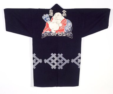 <em>Workman's Livery Coat (Happi)</em>, late 19th-early 20th century. Cotton, 39 3/4 x 49 in. (101 x 124.5 cm). Brooklyn Museum, 12.82. Creative Commons-BY (Photo: Brooklyn Museum, 12.82_transp4620.jpg)