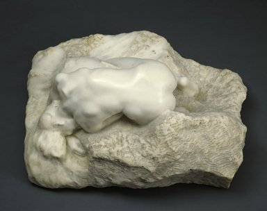 Auguste Rodin (French, 1840-1917). <em>Danaid (Danaïde)</em>, probably 1903. Marble, 12 3/4 × 27 1/2 × 20 1/2 in., 285 lb. (32.4 × 69.9 × 52.1 cm). Brooklyn Museum, Ella C. Woodward Memorial Fund, 12.873. Creative Commons-BY (Photo: Brooklyn Museum, 12.873_SL3.jpg)