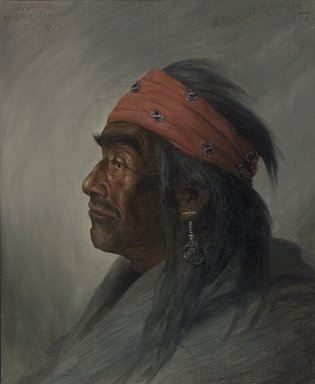 Henry Raschen (American, 1854-1937). <em>Salomon, Medicine Man</em>, ca. 1894. Oil on canvas, 19 7/8 x 15 15/16 in. (50.5 x 40.5 cm). Brooklyn Museum, Gift of Mrs. Abraham Abraham, 12.920 (Photo: Brooklyn Museum, 12.920.jpg)