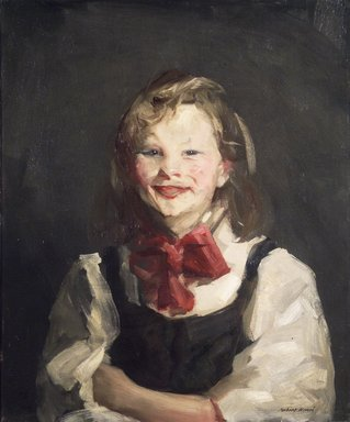 Robert Henri (American, 1865-1929). <em>Laughing Girl</em>, 1910. Oil on canvas, 24 1/8 x 20 1/8 in. (61.2 x 51.1 cm). Brooklyn Museum, Frank Sherman Benson Fund, 12.93 (Photo: Brooklyn Museum, 12.93_transp178.jpg)