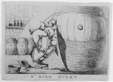 English. <em>Sr. Bibo Bulky</em>, 1773. Etching, sheet: 7 1/8 x 9 1/2 in. (18.1 x 24.1 cm). Brooklyn Museum, Gift of Ralph Cutter, 13.1091.2 (Photo: Brooklyn Museum, 13.1091.2_bw.jpg)
