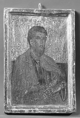 <em>Painting</em>. Wood panel, 5 5/16 x 3 1/2 in. (13.5 x 8.9 cm). Brooklyn Museum, 13.30 (Photo: Brooklyn Museum, 13.30_front_acetate_bw.jpg)