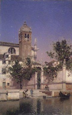 Martín Rico y Ortega (Spanish, 1833-1908). <em>A Canal in Venice (Un canal en Venecia)</em>, ca. 1903. Oil on panel, 13 7/8 x 8 7/8 in. (35.2 x 22.5 cm). Brooklyn Museum, Gift of Mrs. Carll H. de Silver in memory of her husband, 13.33 (Photo: Brooklyn Museum, 13.33.jpg)
