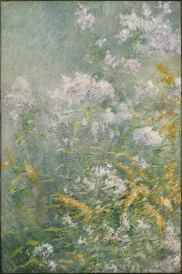 John Henry Twachtman (American, 1853-1902). <em>Meadow Flowers (Golden Rod and Wild Aster)</em>, ca. 1892. Oil on canvas, 33 5/16 x 22 3/16 in. (84.6 x 56.3 cm). Brooklyn Museum, Caroline H. Polhemus Fund, 13.36 (Photo: Brooklyn Museum, 13.36_edited_SL1.jpg)