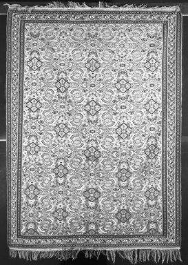 <em>Kilim Weave Rug</em>, ca. 1880. Warp: wool Weft: wool , Old Dims: 64 15/16 x 151 9/16 in. (165 x 385 cm). Brooklyn Museum, Gift of Robert B. Woodward, 14.219. Creative Commons-BY (Photo: Brooklyn Museum, 14.219_bw.jpg)