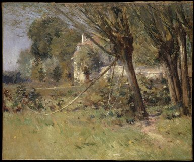 Theodore Robinson (American, 1852-1896). <em>Willows</em>, ca. 1892. Oil on canvas, 17 15/16 x 21 11/16 in. (45.6 x 55.1 cm). Brooklyn Museum, Gift of George D. Pratt, 14.550 (Photo: Brooklyn Museum, 14.550_SL1.jpg)