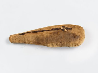 <em>Ibis Mummy</em>, 30 B.C.E.– 100 C.E. Animal remains (female glossy ibis), linen, 4 3/4 × 3 5/8 × 12 3/4 × 14 1/2 in. (12.1 × 9.2 × 32.4 × 36.8 cm). Brooklyn Museum, Gift of the Egypt Exploration Fund, 14.652. Creative Commons-BY (Photo: Brooklyn Museum (Gavin Ashworth,er), 14.652_Gavin_Ashworth_photograph.jpg)