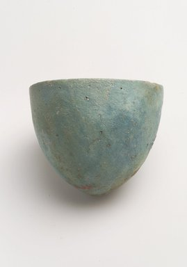 <em>Cone-shaped Cup</em>, ca. 1075-656 B.C.E. Faience, 2 3/16 in. (5.5 cm). Brooklyn Museum, Museum Collection Fund, 14.661. Creative Commons-BY (Photo: Brooklyn Museum, 14.661_4.jpg)