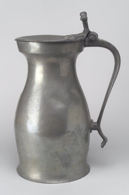 <em>Measure Flagon</em>, early 18th century. Pewter, 13 1/8 x 8 7/8 x 6 5/8 in. (33.3 x 22.5 x 16.8 cm). Brooklyn Museum, Gift of Luke Vincent Lockwood, 14.687. Creative Commons-BY (Photo: Brooklyn Museum, 14.687.jpg)