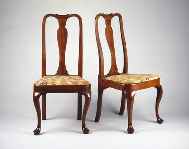 <em>Side Chair</em>, ca. 1740-1750. Cherry, maple, 41 x 19 1/2 x 17 1/2 in. (104.1 x 49.5 x 44.5 cm). Brooklyn Museum, Henry L. Batterman Fund, 14.709. Creative Commons-BY (Photo: , 14.708_14.709_SL1.jpg)