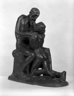 Constantin Meunier (Belgian, 1831-1905). <em>The Prodigal Son (L'enfant prodigue)</em>, 1892. Bronze, 19 x 6 x 17 in. (48.3 x 15.2 x 43.2 cm). Brooklyn Museum, Gift of A. Augustus Healy, 14.716. Creative Commons-BY (Photo: Brooklyn Museum, 14.716_threequarter_bw.jpg)