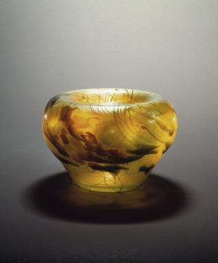 Tiffany Studios (1902-1932). <em>Bowl</em>, ca. 1901-1905. Favrile glass, 7 x 10 x 10 in. (17.8 x 25.4 x 25.4 cm). Brooklyn Museum, Gift of Charles W. Gould, 14.739.14. Creative Commons-BY (Photo: Brooklyn Museum, 14.739.14.jpg)