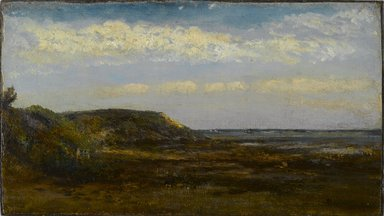 Homer Dodge Martin (American, 1836-1897). <em>Normandy Coast</em>, 1884. Oil on board, 7 3/16 x 12 11/16 in. (18.3 x 32.2 cm). Brooklyn Museum, Bequest of Charles A. Schieren, 15.281 (Photo: Brooklyn Museum, 15.281_PS2.jpg)