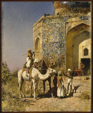 Edwin Lord Weeks (American, 1849-1903). <em>The Old Blue-Tiled Mosque, outside Delhi, India</em>, ca. 1885. Oil on canvas, 31 5/16 x 25 1/2 in. (79.6 x 64.8 cm). Brooklyn Museum, Gift of George D. Pratt, 15.300 (Photo: Brooklyn Museum, 15.300_SL1.jpg)