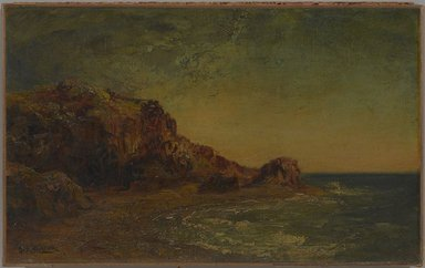 Ralph Albert Blakelock (American, 1847-1919). <em>Coast of California</em>, ca. 1875. Oil on canvas, 9 7/16 x 15 3/8 in. (24 x 39 cm). Brooklyn Museum, Bequest of Charles A. Schieren, 15.311 (Photo: , 15.311_PS9.jpg)