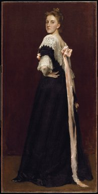 William Merritt Chase (American, 1849-1916). <em>Lydia Field Emmet</em>, 1892. Oil on canvas, 72 x 36 1/8 in. (182.9 x 91.8 cm). Brooklyn Museum, Gift of the artist, 15.316 (Photo: Brooklyn Museum, 15.316_SL3.jpg)